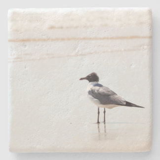 Seagull on the Beach Limestone Coaster Stone Coaster