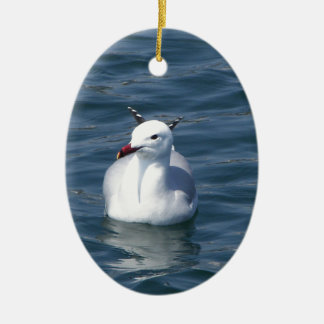 Seagull on the water ceramic oval decoration