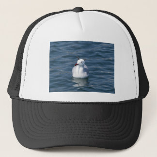 Seagull on the water trucker hat