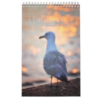 Seagull Photographs Toronto Birds on Beach Calendar