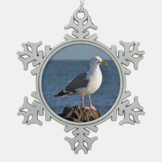 Seagull print christmas ornament