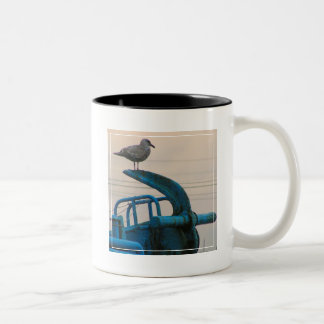 Seagull Rests On Anchor Of Ship | Choshi Two-Tone Coffee Mug