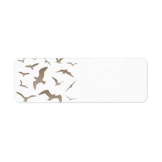 Seagull Return Address Label