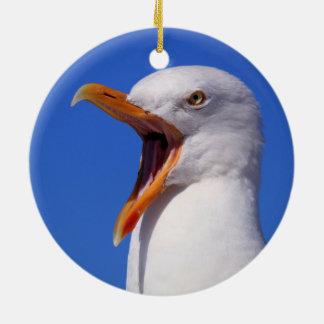 Seagull Round Ceramic Decoration