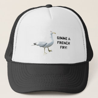Seagull says Gimme a French Fry Trucker Hat