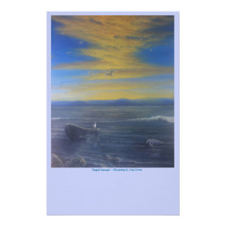 Seagull Seascape Stationary - Seagulls Sunset! Stationery