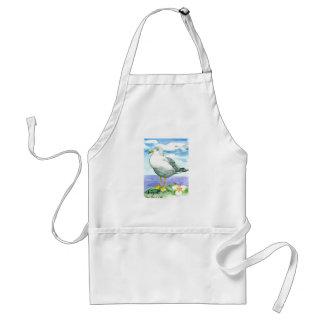 Seagull Sego Lily State Bird of Utah Standard Apron