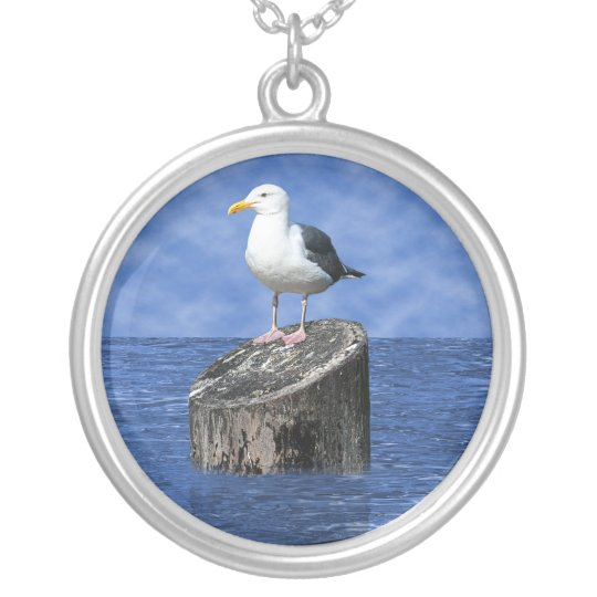 SEAGULL SILVER PLATED NECKLACE