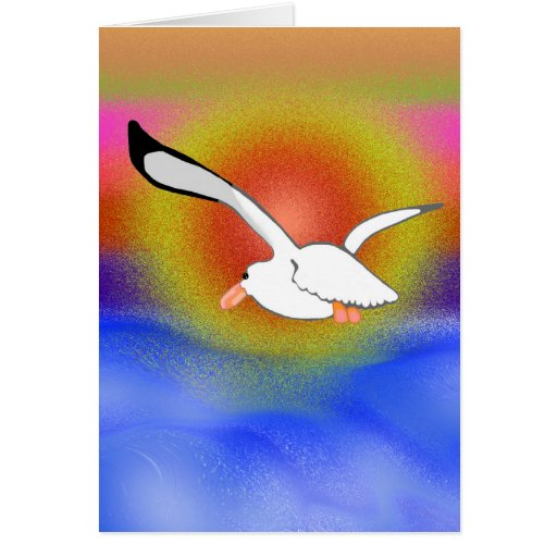 Seagull & Sunset Greeting Cards