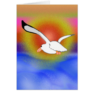 Seagull & Sunset Greeting Card
