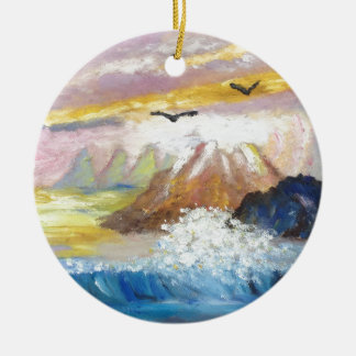 Seagull View by KatGibsonArt.JPG Christmas Ornament