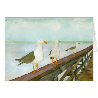 Seagull Watercolor Greeting Cards