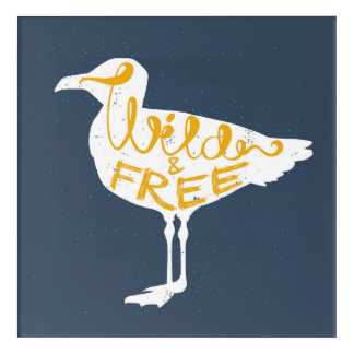 Seagull | Wild And Free Acrylic Wall Art