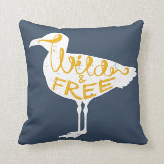 Seagull | Wild And Free Throw Pillow