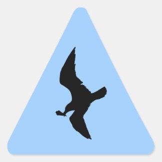 Seagull With Icecream Triangle Sticker