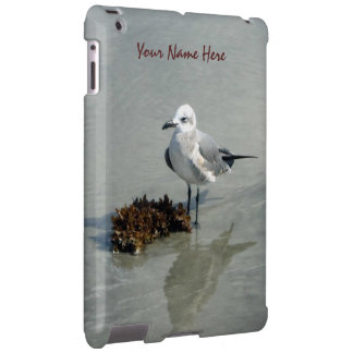 Seagull with Seaweed Personalized iPad Case