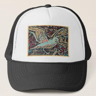 Seagull Woodcut Trucker Hat