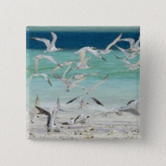Seagulls 15 Cm Square Badge