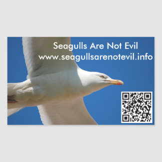 Seagulls Are Not Evil #1 Rectangular Sticker