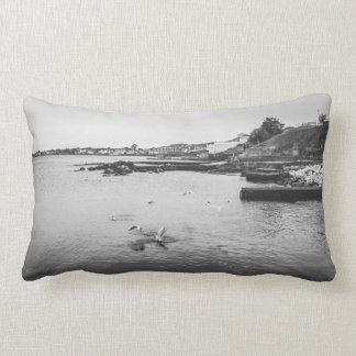 Seagulls flying over the ocean lumbar cushion