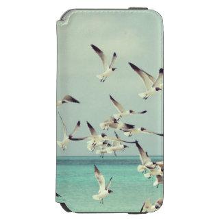 Seagulls Flying Over Water of Beautiful Beach Incipio Watson™ iPhone 6 Wallet Case