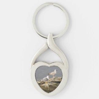 Seagulls Heart Keychain