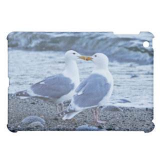 Seagulls Kissing on the Beach Photo Cover For The iPad Mini