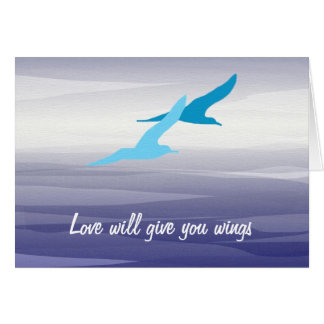 Seagulls - Love will give you wings Greeting Card