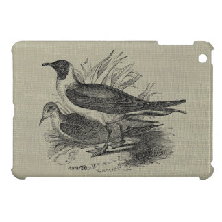 Seagulls on Oatmeal Burlap Cover For The iPad Mini