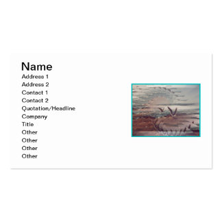 Seagulls On The Coast Business Cards #3