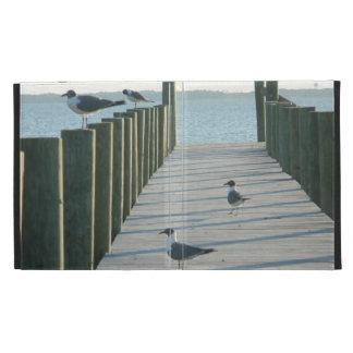Seagulls on The Docks iPad Folio Case