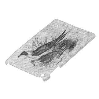 Seagulls on White Burlap iPad Mini Cases