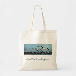 Seagulls Over Seattle Tote Bag