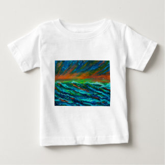 Seagulls over the  ocean baby T-Shirt
