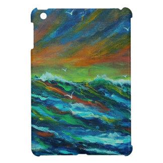 Seagulls over the  ocean iPad mini cases