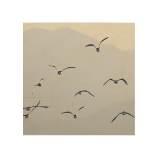 Seagulls Wood Wall Decor