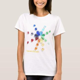 Seaham Beach Rainbow of Sea Glass T-Shirt