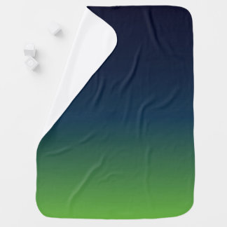 Seahawk inspired baby blanket, blue and green baby blanket