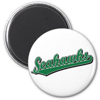 Seahawks in Green 6 Cm Round Magnet