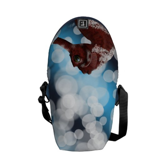 Seahorse and Bubbles Courier Bag