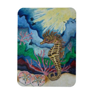 Seahorse and Sandollar Fridge Magnet
