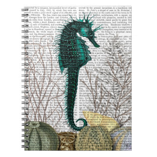 SeaHorse and Sea Urchins 2 Spiral Notebook