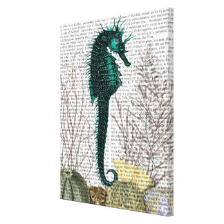 SeaHorse and Sea Urchins Canvas Print