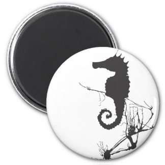 Seahorse and Seaweed #1 6 Cm Round Magnet