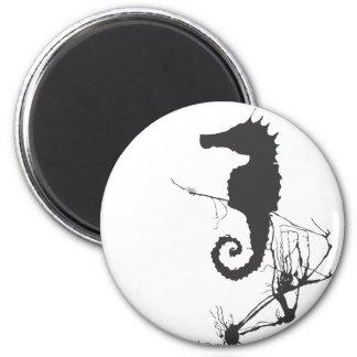 Seahorse and Seaweed #1 Refrigerator Magnet