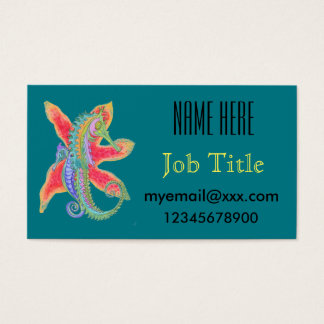 seahorse and starfish business card