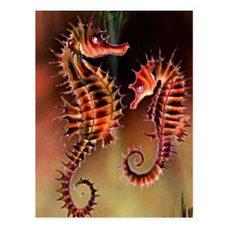 Seahorse art design Postcard