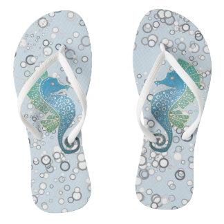Seahorse Artwork Flip Flops