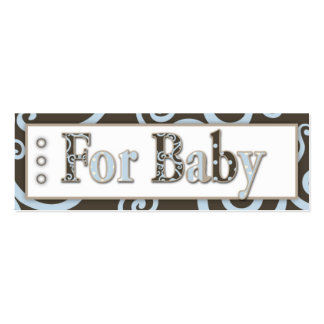 Seahorse Baby Boy Gift Tag Pack Of Skinny Business Cards