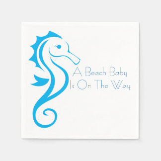 Seahorse Baby Shower Napkin (boy) Disposable Serviettes